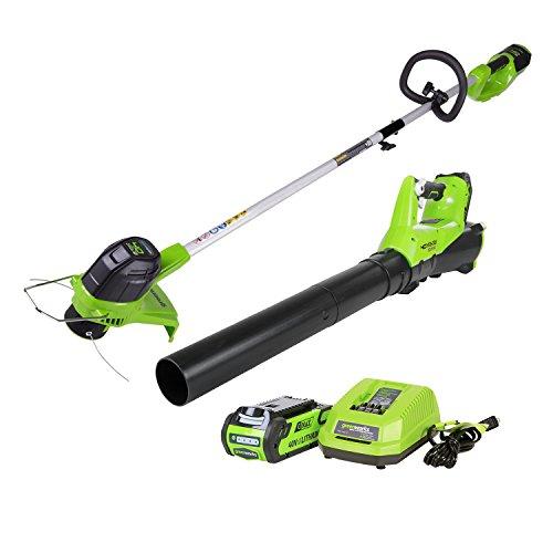 Greenworks 40V Cordless String Trimmer & Blower Combo Pack STBA40B210