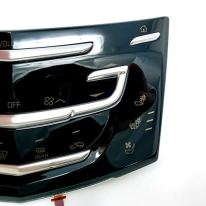 Cuescreens-AC-Control-Panel-Faceplate-Restore-your-scratched-or-cracked-panel-compatible-with-2013-Cadillac-CUE-No-Heated-Seats