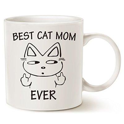 MAUAG Funny Cat Mom Coffee Mug for Cat Lovers, Best Cat Mom Ever...