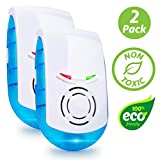 Livin' Well Ultrasonic Pest Repeller Plug in – Electronic Indoor Mouse, Rat, Spider, Mice and Rodent Repeller Plug in, LED Pest Repellent Plug in Device (2pk)