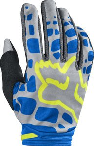 2017 Fox Racing Womens Dirtpaw Gloves-Grey/Blue-M