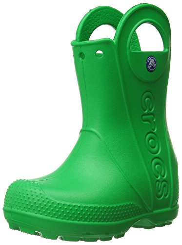 Crocs Kids' Handle It Rain Boots, Easy On for Toddlers, Boys, Girls, Lightweight and Waterproof, Grass Green, 10 M US Toddler