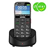 UNIWA Unlocked Cell Phone 3G Senior Cell Phone WCDMA GSM Cell Phone for Senior Citizen & Kids 2.31' Curved Screen Embossed Keyboard Big Button Big Font SOS Emergency Simple Phone with Charging Dock
