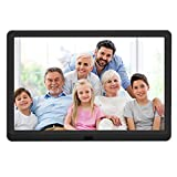 10 inch Digital Picture Frame with 1920x1080 IPS Screen Digital Photo Frame Adjustable Brightness, Photo Deletion, Timing Power On/Off, Background Music Support 1080P Video, SD Card and USB
