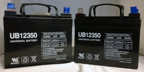 12V 35AH Jazzy Select GT Power Chair Scooter Battery - 2 Pack