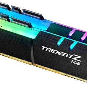 G.Skill Trident Z RGB Series 16GB (2 x 8GB) 288-Pin SDRAM (PC4-25600) DDR4 3200 CL16-18-18-38 1.35V Dual Channel Desktop…