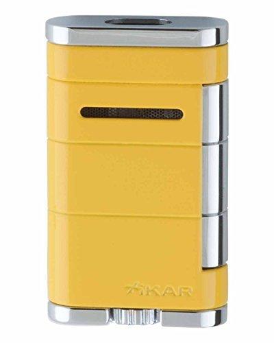 XiKAR Allume Double Flame Cigar Lighter Yellow