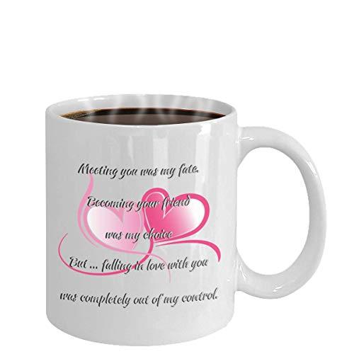 I Love You Mug True Love Wife Husband Partner Fiance Boyfriend Girlfriend (white)