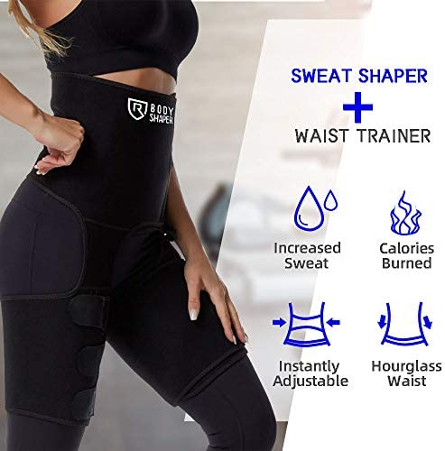 ROSRAN Waist Trainer for Women, Waste Trainers for Women, Hip Enhancer Invisible Lift Butt Lifter Shaper Waist Trainer Thigh Trimmers for Women 2