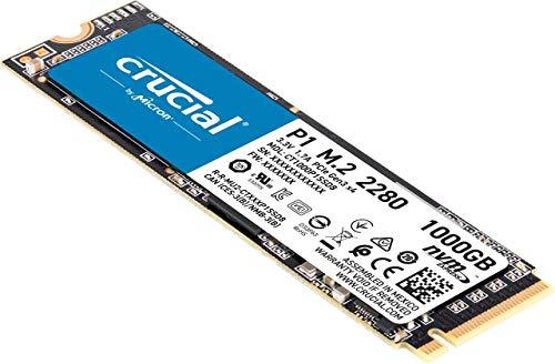 Crucial P1 1TB 3D NAND NVMe PCIe M.2 SSD - CT1000P1SSD8 3