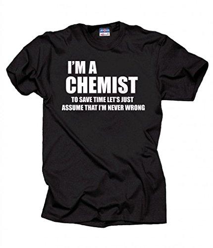 Chemist Funny Chemistry T-shirt XXX-Large Black