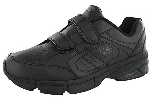 Dr.Scholls Men's Omega Light Weight Dual Strap Sneaker Wide Width (10 2E US, Black)