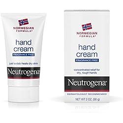 Neutrogena Norwegian Formula Moisturizing Hand Cream Formulated with Glycerin for Dry, Rough Hands, Fragrance-Free Intensive Hand Cream, 2 oz (Pack of 6)