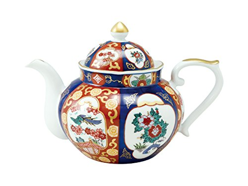 Tea pot with wooden boxOld Imari style Phoenix 45027390, Asian, Oriental, Japanese dish plates Traditional Collection/Yamashita Craft