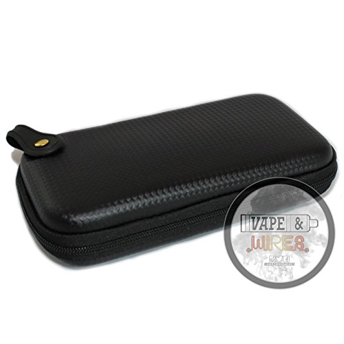 [Vape and Wires] Carbon Fiber Pattern Design Hard Carrying Case for Kanthal Wire, E-Liquid, Vapes, Vape Mods [CASE ONLY]