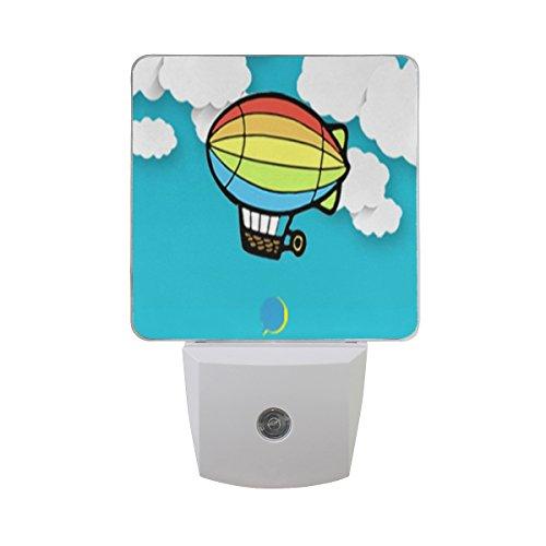 Saobao - Luz LED nocturna de aire caliente, ideal para recámara, baño, sala de estar, pasillo,...