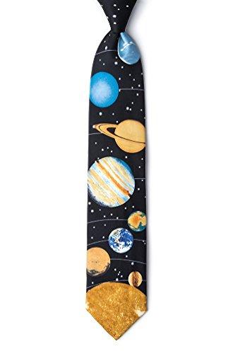 Black Silk Tie | Solar System Necktie