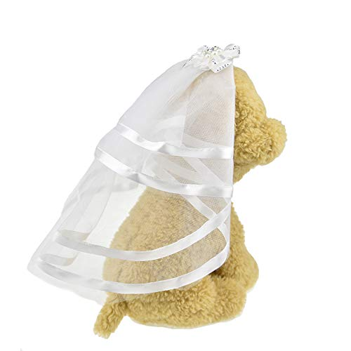FLAdorepet Veil for Dogs Small Dog Pet Cat Wedding Veil Dress Bride Costume Dog Hair Bow Clips Hairpin Headwear Dog Hair Accessories 1