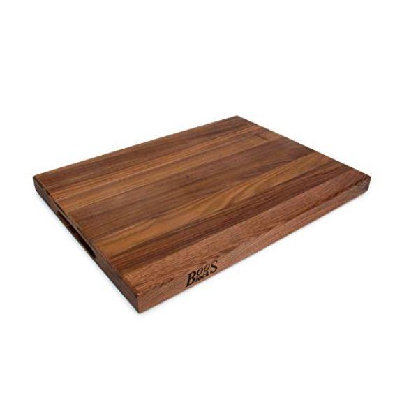 John Boos Block WAL-R03 Walnut Wood Edge Grain Reversible Cutting Board, 20 Inches x 15 Inches x 1.5 Inches