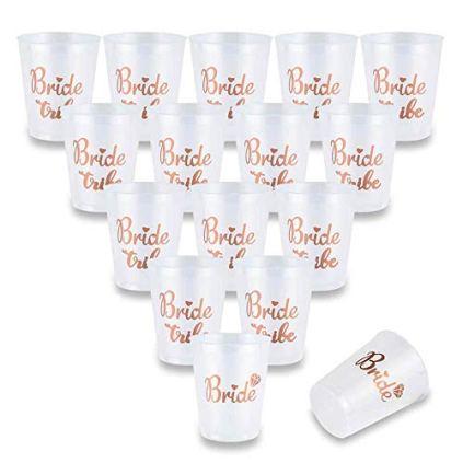 AniSqui-16-Count-Bride-Tribe-Tasses-Douche-Nuptiale-Rose-Gold-Cups-w2-Tasses-de-marie-Parfait-pour-la-fte-de-fianailles-Team-Bride-and-Birde-to-be-de-Vie-de-Jeune-Fille-16-Oz-450ml