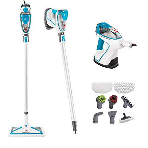 Bissell PowerFresh Slim Hard Wood Floor Steam Cleaner System, Steam Mop, Handheld Steamer and Scrubbing Tools, and Clothing Steamer Tool, 2075A