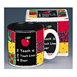 '2 Teach is 2 Touch Lives' Teachers Coffee Mug Inexpensive Gift Item