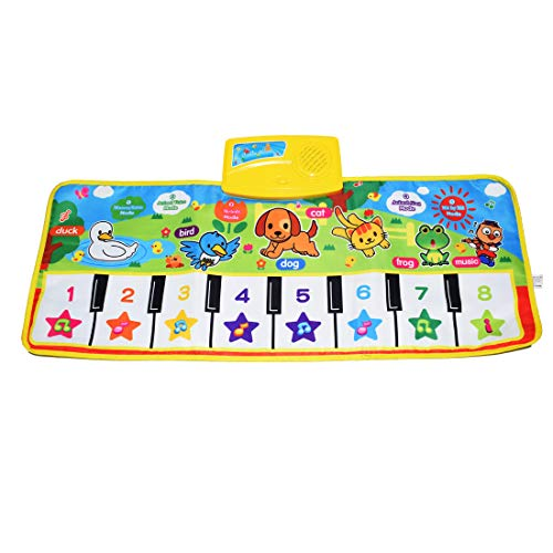 Fresh Household Piano Mat, Kids Keyboard Mat Playmat Education Toy Birthday Christmas Easter Day Gift for Kids Boys Girls