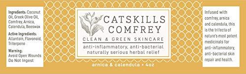 Catskills Comfrey: Arnica & Calendula, 2oz – trifecta of nature's most potent therapeutic medicinals; anti-inflammatory, anti-bacterial (tattoo/surgical procedure therapeutic, rosacea, psoriasis, eczema, sunburn, pimples) deal 50% off 41dMvhliykL