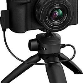 Panasonic Lumix G100 4K Mirrorless Vlogging Camera (Black) with Tripod Grip, Built-in Mic & 12-32mm Lens, Micro Four…