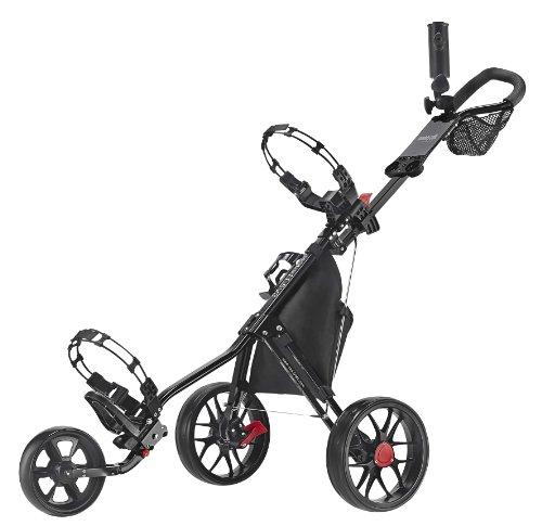 CaddyTek Deluxe 3 Wheel Golf Push Cart Version 3, CaddyLite 11.5 V3-Black