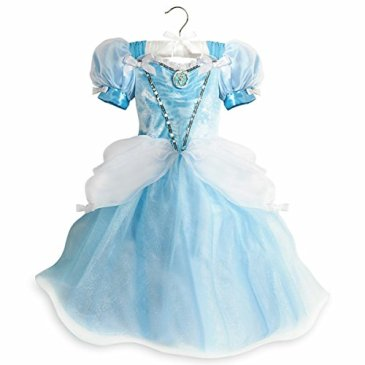 Disney Store Deluxe Cinderella Light Up Costume Dress Hallow