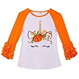 VIKITA 2017 Kid Girl Cotton Halloween Witch Pumpkin Long Sleeve T Shirt Clothes GZSH001 5T
