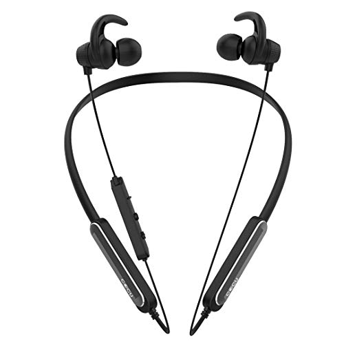 41dR7QHwZNL Cocu EXPLOD in-Ear Bluetooth Neckband Earphone with Mic Newest Bluetooth 5.zero Wi-fi Earphones Headphones Earbuds 16 Hours Playtime Constructed-in Further Bass and Assistant Management (Black)