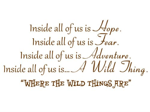 Inside All Of Us Is Hope Inside All Of Us Is Fear Inside All Of Us Is Adventure Vinyl Wall Decal