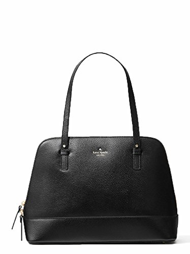 41dZvn MSNL Boar skin embossed cowhide leather with golden tone hardware Capital Kate logo fabric lined interior with zippered pocket and two open slip pockets Fully zippered top closure with Kate Spade logo on the front and flattened bottom panel