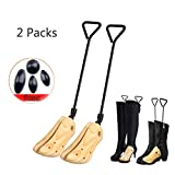 Men's & Women's Wooden Boot Stretcher for Cowboy Boots Professional Boot Width Shapers for Hiking Work Boots (L US:9-10.5)