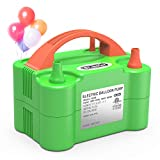 Dr.meter Electric Air Balloon Pump, 110V 600W Portable Christmas Decorations Air Pump with Dual Nozzle Blower/Inflator for Party Decoration/Wedding/Birthday/Sport/Christmas