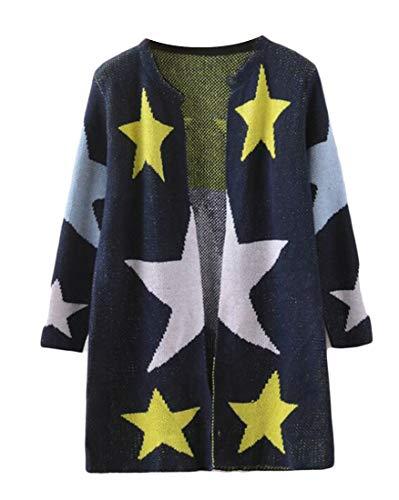 KLJR - Blusas de Punto para Mujer con diseño de Estrella Abierta