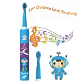 OJV Professional Kids Electric Sonic Rechargeable Toothbrush...