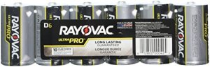 Rayovac UltraPro Alkaline D Batteries with Recloseable Lid