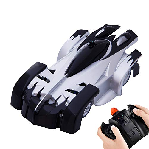 KINGBOT Rc Cars for Kids Remote Control Car Toys Dual Mode 360° Rotating Stunt Rc Car High Speed Vehicle with LED Lights Rechargeable Battery Best Gift for Boys Girls of Age 3-16 Black