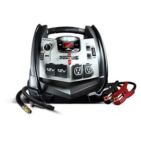 Schumacher SJ1332 1200 Peak Amp Jump Starter and Air Compressor with 12V USB Portable Power Ports
