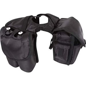 Cashel Quality Deluxe Medium Horse Saddle Pommel Horn Bag, Insulated Padded Pockets, Two Water Bottle Pockets, Camera or…