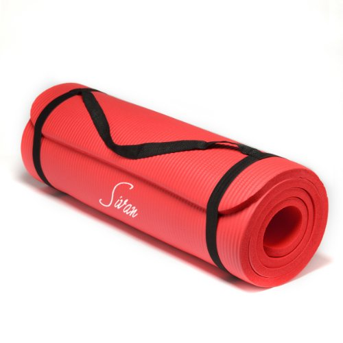 Sivan Health And Fitness Nbr Yoga And Pilates Mat Red