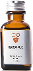 BEARDOHOLIC Premium Quality Beard Oil and Leave-in Conditioner, Softener, Pure Organic Natural, Pine Scented, Promotes Beard Growth and Stops Itchiness  Image