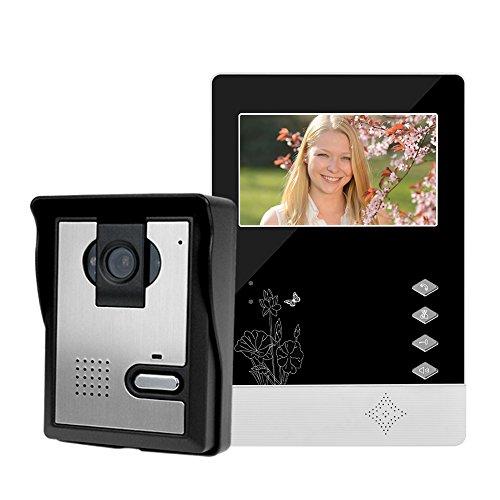 LIBO Smart Home Wired Home Video Door Phone Intercom Doorbell 4.3inch Infrared Night Vision 25 Ringtones IP54 Waterproof for Door Entry System