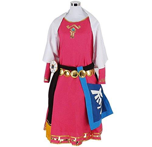 HOLRAN The Legend of Zelda Princess Zelda Childhood Cosplay Costume (Female xS)