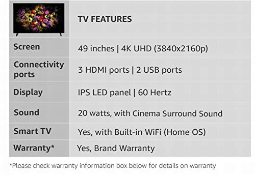 Panasonic 123 cm (49 Inches) 4K UHD LED Smart TV TH-49FX600D (Black) (2018 model) 3