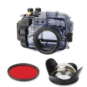 SeaFrogs-Underwater-Camera-Housing-Case-wFisheye-Lens-Dome-Port-and-Full-Color-Red-Filter-Kit-Waterproof-Protective-Diving-case-for-Sony-A6500-A6300-A6000-60m195ft