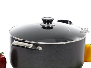 Dutch-Oven-18Qt-Non-Stick-Heavy-Gauge-Aluminum-Big-Large-Casserole-Pot-Glass-Lid